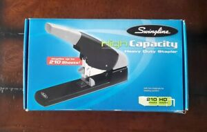 Swingline High Capacity Heavy Duty Stapler 210 Sheets Black New In Box 90002