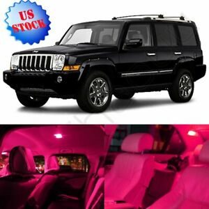 12pcs Pink Car Smd Interior Package Led Light Combo For 2006 2010 Jeep Commander