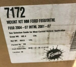 7172 Fisher Plow Mount Ford 2wd 650 International 4000 Series 2wd