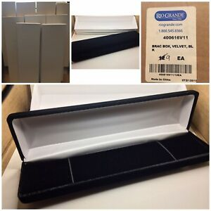 New Rio Grande Lot 9 Black Velvet Bracelet Gift Storage Boxes High End