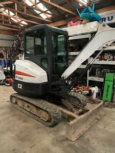 2011 Bobcat E32 Mini Excavator Enclosed Cab Heat Ac 2 Spd Keyless Entry