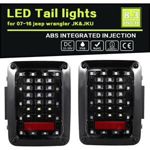 Tail Lights Led Tail Rear Light Fit For Firebug Jeep Wrangler Smoke Tinte Lens A