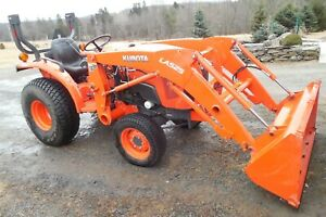 Kubota Tractor L3301 Diesel With Front Loader 4wd Hyd Trans 33 Hp 120 Hours