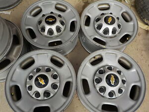 4 Chevy 2500 8 Lug Factory Steel 17 Wheels 226g Gmc Oe 3500 Hd 11 19