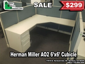 40 Herman Miller Ao2 6 X 6 Cubicles blue