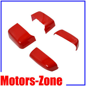 Painted Pull Me Over Red Towing Mirror Cover Caps For 14 19 Silverado Sierra