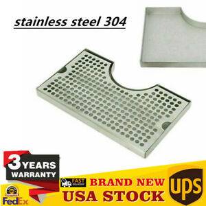 Stainless Steel Drip Tray Removable Kegerator Tap Draft Beer Drip Tray Polished
