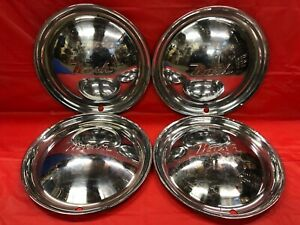 Vintage Set Of 4 1950 51 Nash 15 Hubcaps