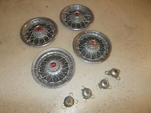 Pontiac Wire Spoke Wheel Covers Hubcaps 15 With Inner centers Nice