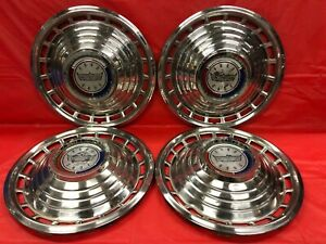 Vintage Set Of 4 1963 Ford 14 Hubcaps Galaxie 500 Good Condition