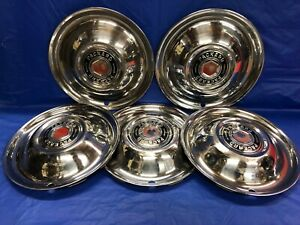 Vintage Set Of 5 1951 54 Packard 15 Hubcaps Mayfair Clipper