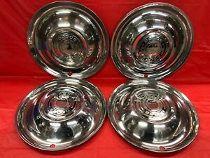 Vintage Set Of 4 1951 Dodge 15 Hubcaps Coronet Meadowbrook Royal