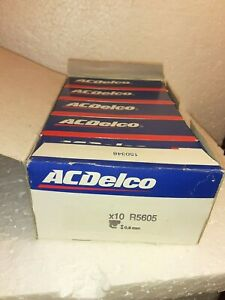 10 Ac Delco R5605 Spark Plugs New Old Stock