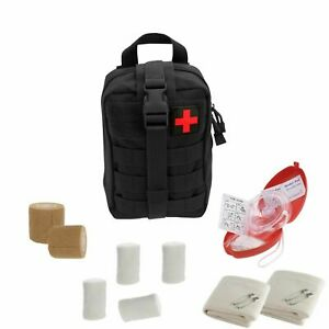 Tactical Emergency Cpr Rescue Kit With Molle Pouch Cpr Mask First Aid Supplies
