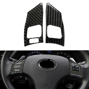 Carbon Fiber Steering Wheel Button Cover Fit For Lexus Is250 Is300 Is350 2006 12
