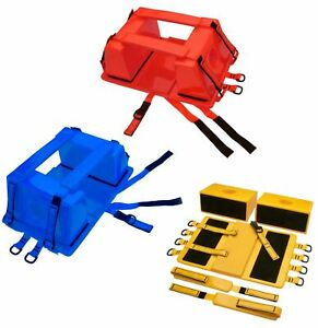Emergency Spine Board Head Immobilizer For Backboard W Straps Ems emt Lifeguard
