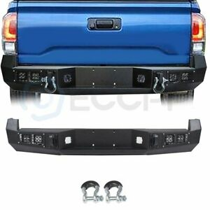 For 05 15 Toyota Tacoma Standard Protector Step Steel Rear Bumper Face Bar