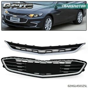 For Chevy Malibu 2016 2018 Honeycomb Mesh Grill Front Bumper Upper Lower Grille