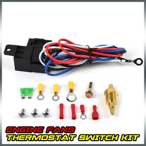 Front Electric Radiator Engine Fan Thermostat Temperature Switch Relay Kit
