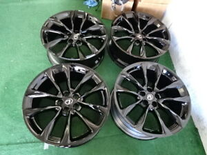 2019 Lexus Lc500 Oem Factory 21 Wheels Rims Gloss Black Staggered 2018