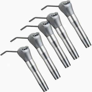 5pc Dental Air Water Spray Triple Syringe Way Handpiece With 10 Nozzles Tubes