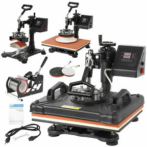 5 In 1 Heat Press Machine For 12 x15 Combo Kit Sublimation Swing Away