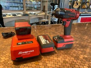 Snap on Ct8810a 3 8 Cordless Impact Wrench W 3 Batteries Charger