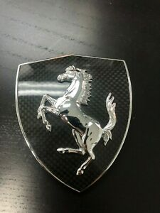 Ferrari Carbon Fiber Fender Shield Emblem