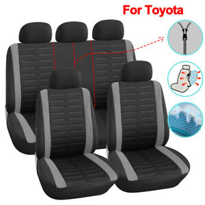 Universal Full Set Polyester Car Seat Cover Fit For Toyota Rav4 Camry Yaris