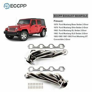 Eccpp For 1979 1993 Mustang 5 0 302 V8 Gt Lx Svt Racing Manifold Header Exhaust