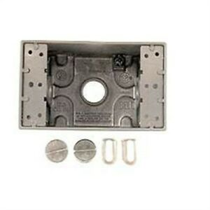 Bell Outdoor 5320 0 1 gang 3 outlets Die cast Aluminum Weatherproof Box 1 2 In