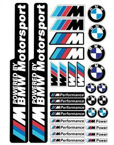 Bmw Performance Motorsport Tuning Decals Sticker 1 Set 32 Piece Full Color Hd