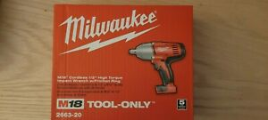 Milwaukee 2663 20 M18 1 2 High Torque Impact Wrench W friction Ring Bare Tool