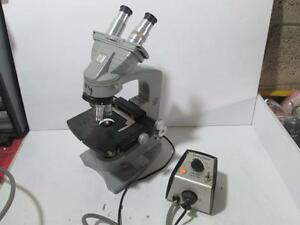 American Optical Spencer Microscope With Lens 1116 107 9 B02768