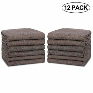 Moving Blankets 54 X 72 Pro Economy 12 Pack Grey Shipping Furniture Pads