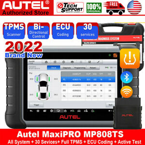 Autel Maxi Pro Mp808ts Auto Diagnostic Scan Tool All System Scanner Tpms Service