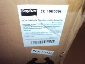 Dayton 10e039 Exhaust Fan industrial commercial Direct Drive 16 x16 115 230 V