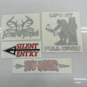Pack Of 5 Bow Hunting Decals Stickers Car Truck 4 Pictured Random Decal