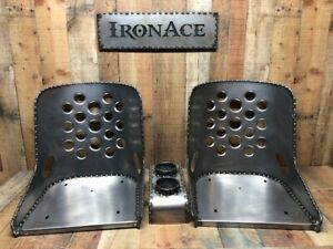 Iron Ace 17 Hot Rod Rat Rod Bomber Seats W Console Combo