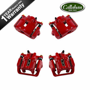 Front And Rear Red Powder Coated Brake Calipers For Acura Cl Tl V6 3 2l