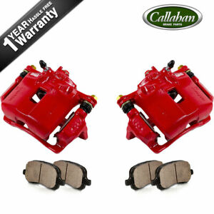 For 1993 1997 Honda Civic Ex Coupe Del Sol Front Red Brake Calipers