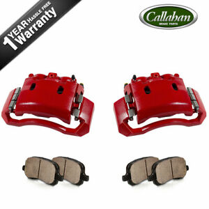 Front Powder Coated Brake Calipers Ceramic Pads For Dodge Ram 1500 2500 3500