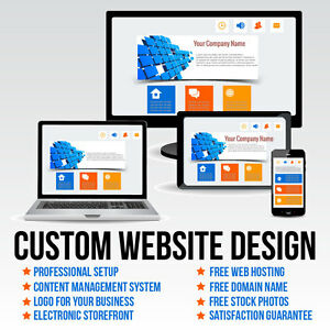 Custom Website Design Package Free Hosting And Domain Name