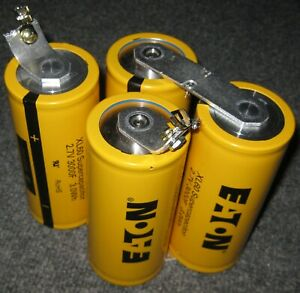 4 Eaton 3000 Farad 2 7v Capacitors In Series 750f 10 8v Total Supercapacitor
