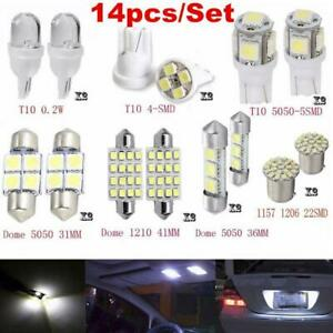 14x Car Interior Package Map Dome License Plate Mixed Led Light Accessories Usa