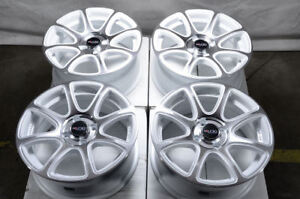 15 Wheels Honda Civic Accord Aveo Cobalt Neon Fortwo Prius Mr2 White Rims 4x100