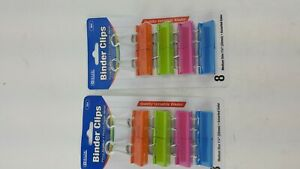 16 Pack Medium Size Binder Clips 1 1 4 Assorted Colors
