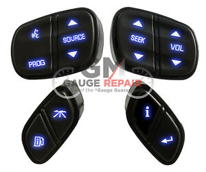 Gm Chevrolet Steering Wheel Buttons Switches Controls New Blue Led s 4pc Set