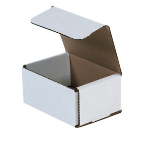 Pack Of 200 Strong Light Mailer 4x3x2 White Small Folding Mailing Corrugated Box