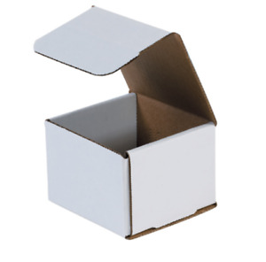 Pack Of 200 Strong Corrugated Mailer 4x4x3 White Small Folding Light Mailing Box